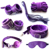 Purple Beginner's Dream Bondage Kit Sex Toys (7 Pieces);