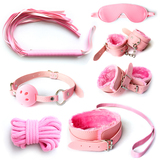 Pink Beginner's Dream Bondage Kit Sex Toys (7 Pieces)