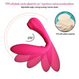 Super-Flexible Silicone Suction Vibrator with G-Spot Stimulating Sex Toy for Women
